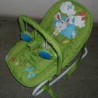 Детский шезлонг качалка bt bb 0001  зеленый