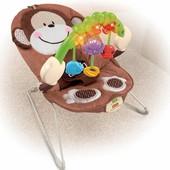 Кресло-шезлонг Обезъянка Fisher-Price deluxe monkey bouncer
