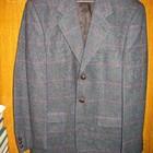 Пиджак синий,р.52,шерстяной.