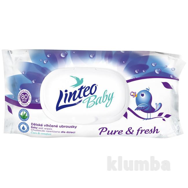 Детские влажные салфетки Linteo baby 80 шт. Линтео фото №1