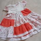 лоскутное платье на крошку 1-2годика