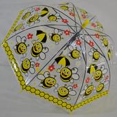 Зонты прозрачные,  трость