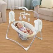 Детское кресло качели от сети Fisher Price space saver