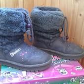 Фирменные зимние ботинки (угги) Skechers