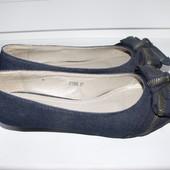 Классные джинсовые балетки р.36-37 стелька 23 см