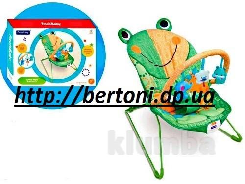 Детский шезлонг-качалка лягушонок 8610 фото №1