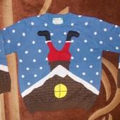 свитер новогодний.дед Мороз или Санта Клаус