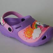 Шалунишка арт.LW007 сирень китти. Кроксы/ пляжная обувь для детей.