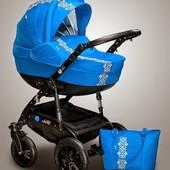 Детская универсальная коляска 2 в 1 Ajax Group Лыбидь Pacific, синий