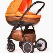 Универсальная коляска 2 в 1 Ajax Group Pride Orange, оранжевый с коричневым