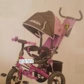 Велосипед трехколесный Lambordgini Air накачка 2 цвета