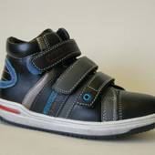 Ботинки KLF арт.2061-1 black Демисезонные ботинки для мальчиков.