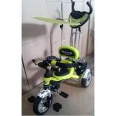 Оригинал. Акция Велосипед трехколесный Mars Trike Kro1 air (салатовый), надувные колеса