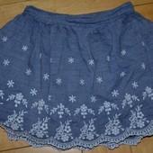 Обалденная фирменная юбка девочке 1 - 2 года 92 см с кружевом