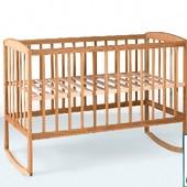 Гойдалка Кроватка детская из бука с дугами