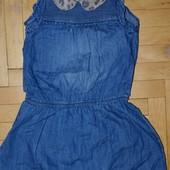 4 - 5 лет 104 - 110 см Next некст Обалденное платье сарафан джинсовый