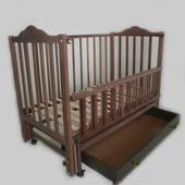 Sonno ПКР-300 детская кроватка на маятнике с ящиком из бука