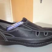 Кожаные летние мужские туфли 40,41,43 р. (туфлі, літні, чоловічі, шкіра)