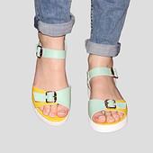 Стильные Женские кожаные сандалии цвета Модель С2.