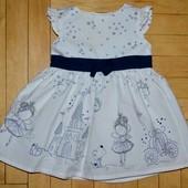 3 - 6 месяца рост 74 см Очень нарядное романтичное и пышное платье моднице малышке с феями