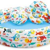 Детский бассейн Тропические рыбки интекс 59469
