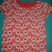 Фирменная (Англия) NEXT стильная футболка девочке 8-9 лет