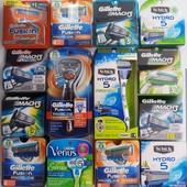 Gillette, Schick Оригинал из США картриджи, кассеты, лезвия, станки