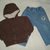 кофта с джинсами для дома на 9-12месяцев