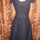 Фирменное Marks & Spencer (Англия) льняное стильное платье на наш 44-46 размер