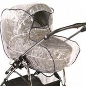 Универсальный дождевик на коляску с окошком на люльку и небольшую прогулочную колясочку