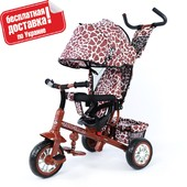 + Гарантия Велосипед трехколесный Tilly Zoo, коричневый.