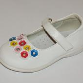 МХМ арт. 4062С белые Туфли для девочек
