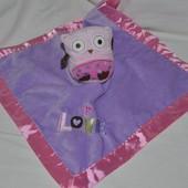 Фирменный Впитывающий платочек полотенечко с развивалками Совушка Сова