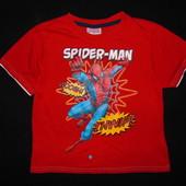 Футболка Spider-Man на 4-5 лет,рост 104-110 см.Большой выбор!