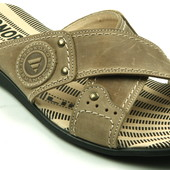 Распродажа остатков мужские шлёпанцы полностью из натуральной кожи  сандалии