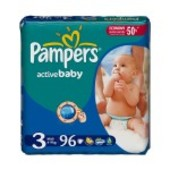 Pampers Active Baby Giant Pack 3(4-9 кг) 90 шт
