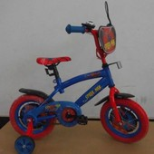 Велосипед Спайдер мен 2-х колес 12'' 141209  со звонком, зеркалом, с вставками в колесах