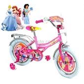 Велосипед Принцессы 2-х колес 12'' 141207Pr Принцессы (1шт) со звонком, зеркалом, с вставками в коле
