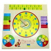 Часы-календарь, украинский, Розумний Лис (90055)