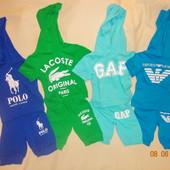Летние костюмы на мальчиков 2-3 года Emporio Armani,lacoste,рolo,GAР.