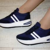 Кроссовки синие Т679