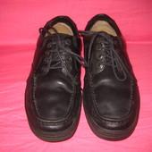 Кожаные фирменные туфли Clarks - (8 H) 42 размер