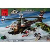 Конструктор Brick Военная серия Вертолет 818