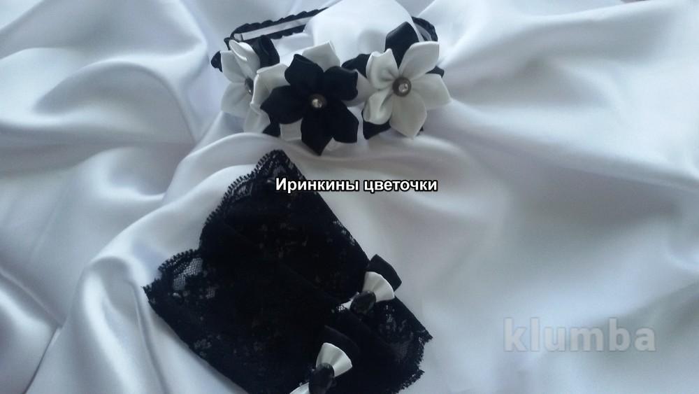 Обруч для волос и перчатки-митенки фото №1