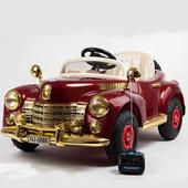 Детский электромобиль Buick 8888 Retro - Бордо (резиновые колеса)