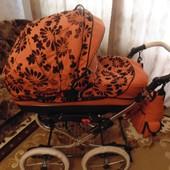продам универсальную классическую коляску 2 в 1 Kajtex Tramonto Len