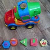 Музыкальный сортер бетономешалка Kiddieland Развивающая музыкальная игрушка