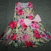 Обалденное яркое платье на 4-5год