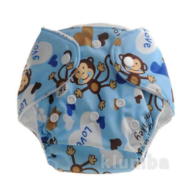 Многоразовые подгузники для новорожденных ТМ Pororo с резиночками внутри + вкладыш микрофибра 4слоя фото №1