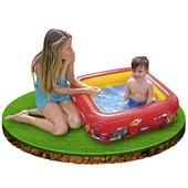Детский надувной бассейн Cars/Тачки с надувным дном Intex: 85х85х23см (Intex 57101)